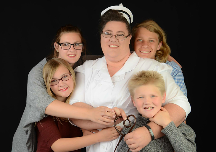 Laura Kelley, Victor Valley nursing student, and her family